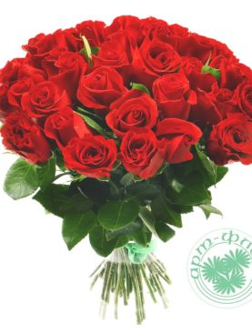 Букет из 35 красных роз 50 см (Эквадор)