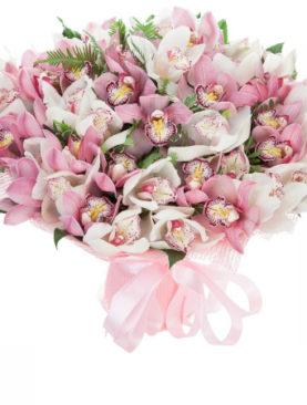 Букет из 45 орхидей