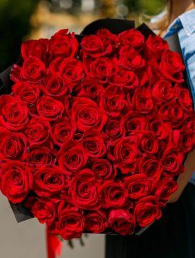 Букет из 51 красной розы 70 см (Эквадор)
