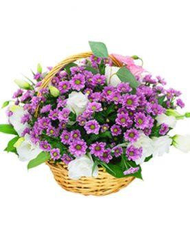 Цветы в корзине Нежная тихоня