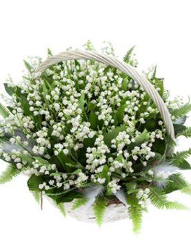 Цветы в корзине Родом из детства